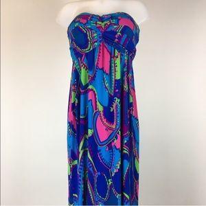 Tobi multicolored maxi dress elegant empire waist
